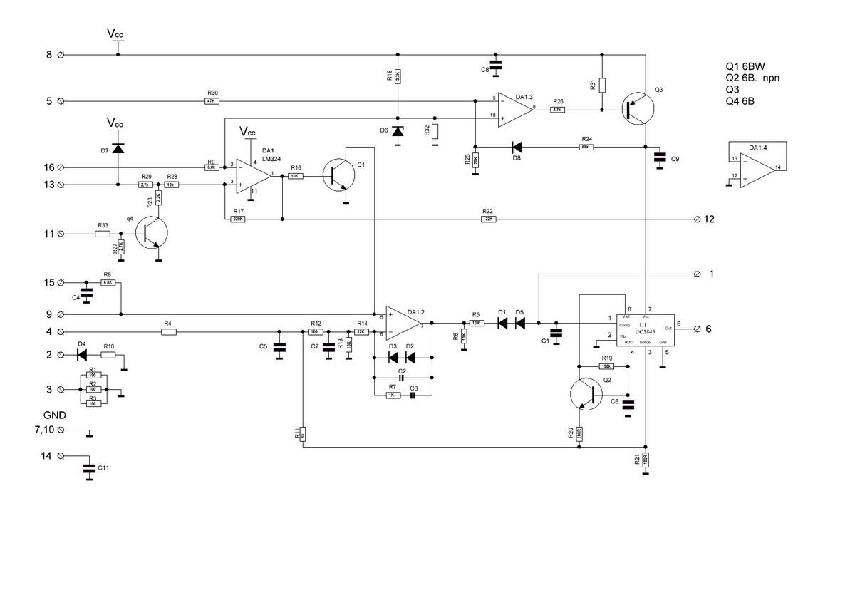 Схема управления BestWeld 210